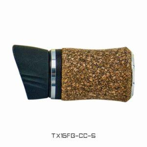 TX16 Foregrip with Cork Composite Covering with Hood – Silver Trim Reel Seats