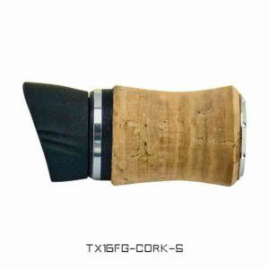 TX16 Foregrip with Cork Covering with Hood – Silver Trim Reel Seats